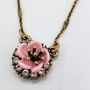 Flower Pendant with Sparkle